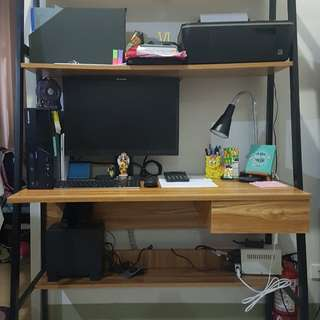 Study desk with metal stand