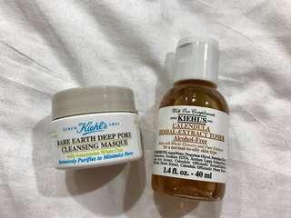 🚚 契爾氏 金盞花植物精華化妝水&亞馬遜白泥淨緻毛孔面膜