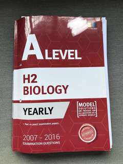 🚚 A Level H2 Biology Yearly TYS (2007-2016)