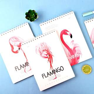 Beautiful Pink Flamingo Spiral Sketchbook A4