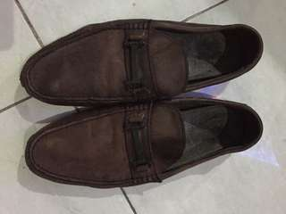 Sepatu kulit leather shoes loafer merk pedro ori