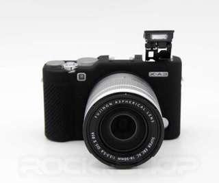 Fujifilm X-a3 black silicon case