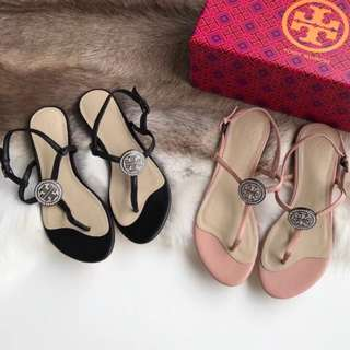 ♥️ Tory Burch Liana flat Sandals 2️⃣ colours