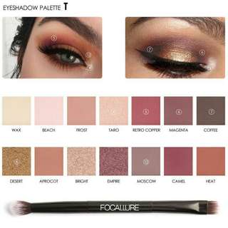 K13E59A0 - Eye Shadow - Focallure Eyeshadow pallete 14 color seri Tropical 2