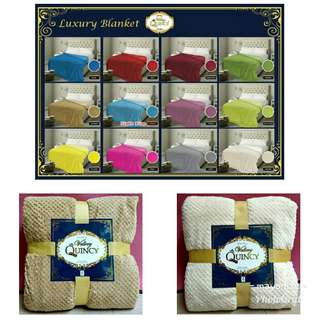 Selimut luxury quincy super soft embossed