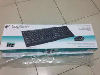 🚚 羅技 無線鍵盤滑鼠組 mk260r