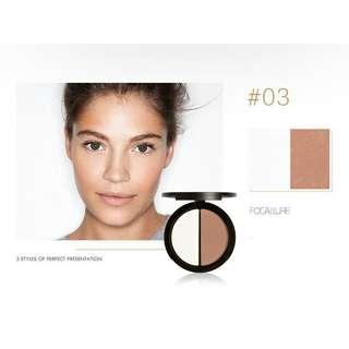 K13E95DC-Makeup Wajah- Focallure Counture and hightlighter powder 3