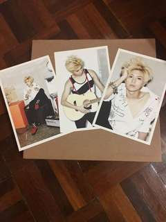 SHINEE Taemin Photocards from 2012 Diary