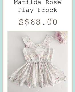 Little Bow Co Matilda Rose Play Frock