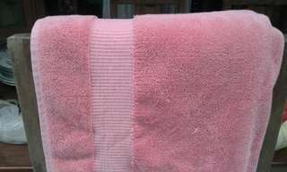 Handuk pink katun