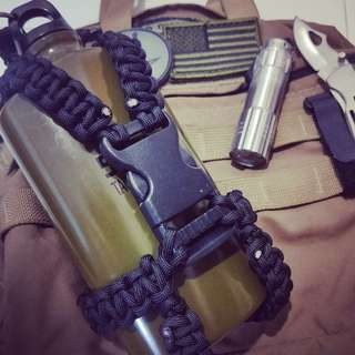 One and only paracord camping water bottle cage