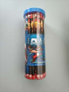 Superhero iron man american captain 50 pencils