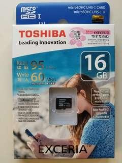 Toshiba 16GB MicroSDHC 卡 (全新未用)