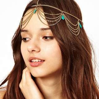 Retro Gold Bohemian Head Dress
