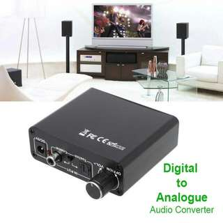 DAC – Digital (Optical+Coaxial) Analog (Audio+Optical Coaxial) Audio Converter