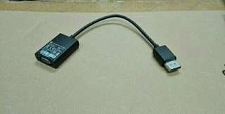 HP Display port to VGA adaptor 轉換頭