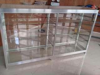 glass display showcase or estante for sari sari store