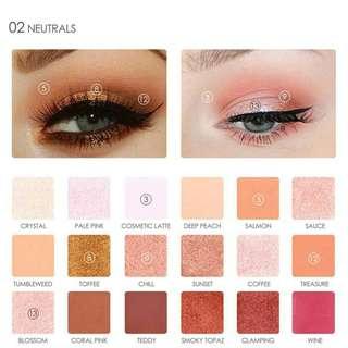 K13E599C-Eye Shadow- Focallure Eyeshadow pallete 18 color 2