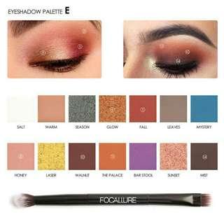 K13E599F-Eye Shadow- Focallure Eyeshadow pallete 14 color seri Everchanging 1
