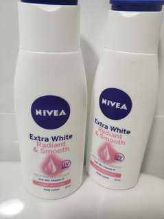 2 Nivea extra white and radiant smooth body lotion