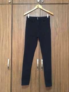 F21 forever21 black skinny jeans, trouser