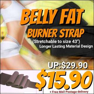 Waist Trimmer Belt for a Slimmer Tummy Abs During Exercising Workout. Usual Price: $29.90 Offer :$15.90+ Free Mail Postage.