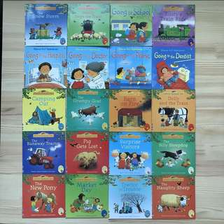 20 Pcs Brand New Usborne Children's Books - My first experiences
