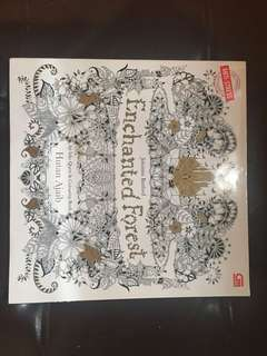 Preloved anti stress book: Enchanted Forest