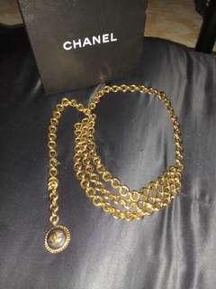 Vintage authentic chanel chain belt