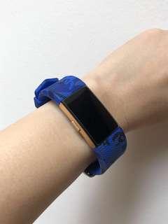Fitbit Charge 2 Blue Camo Design Silicone Straps