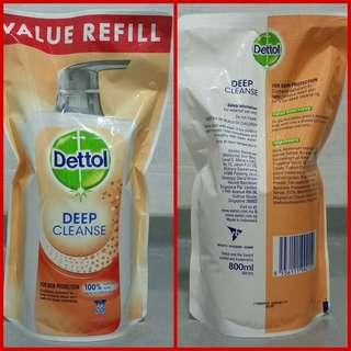 Dettol Shower Gel Deep Cleanse Refill Pack (800ml)