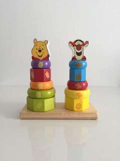 Disney Wooden Stacker Baby Kids Toy