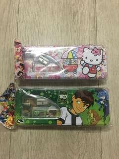 Hello Kitty and Ben 10 Pencil Case
