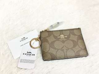 Authentic COACH Mini Skinny ID Case in Signature Canvass