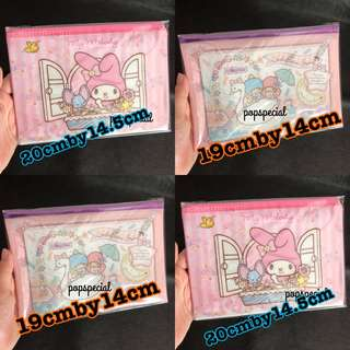 Japan Original My Melody OR Little Twin Stars Pouch  Bag