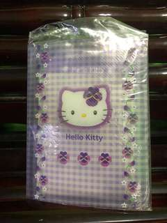 Hello kitty purple notebook