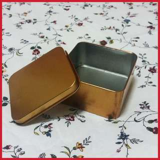 Gold Metal Gift Box