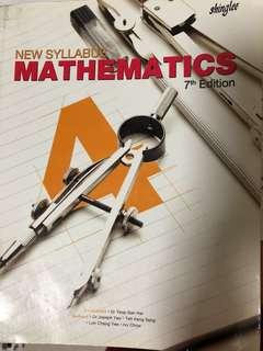 E maths textbook sec 4 New Syllabus Mathematics 7th Edition