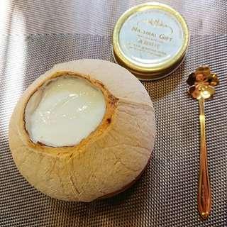 燕窩椰皇蛋白燉鮮奶  (2個起訂) 美容 美白 嫩肌 補肺 補虛 養陰 養生即食燕窩 即叫即燉 增強抵抗力