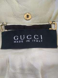 Authentic jaket kulit GUCCI