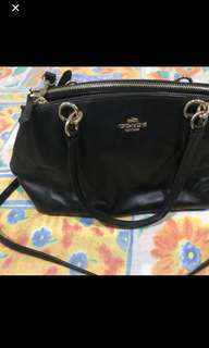 Coach 2 way leather bag