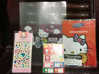 Sticker set hello kitty & etc