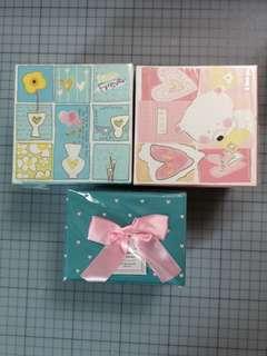 禮物紙盒三個