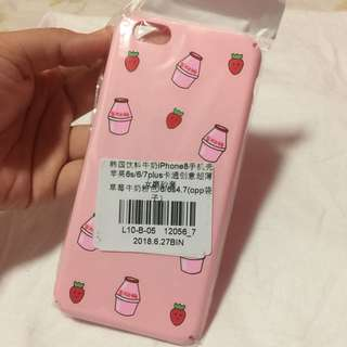 🌻BRANDNEW🌻 Iphone 6 Iphone 6s Strawberry Milk Korean Hard Case
