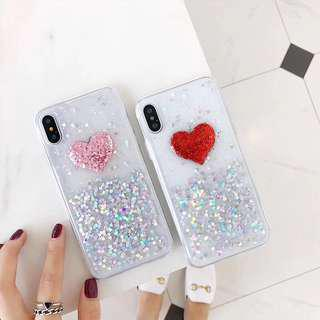 PREORDER Heart Love Glitter Phone Case❤️