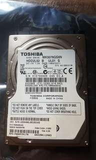 Hard Disk 500gb sata for laptop
