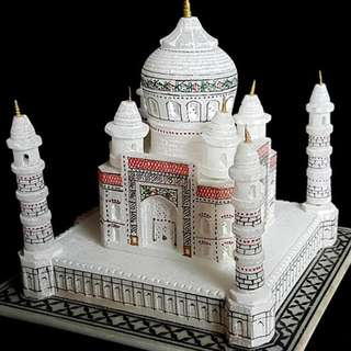 Indian   white marble stone Tajmahal Miniature