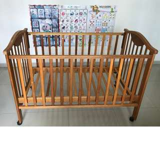 Preloved Wooden Baby Cot