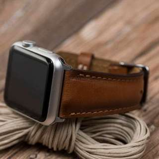 Leather Band (Burnished Tan) for Apple Watch 42mm