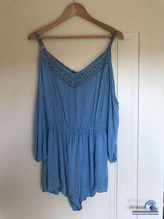 Blue cotton playsuit